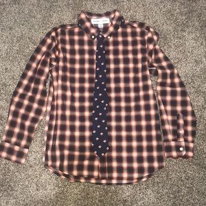 Old Navy, Button Down Shirt with Bulldog tie